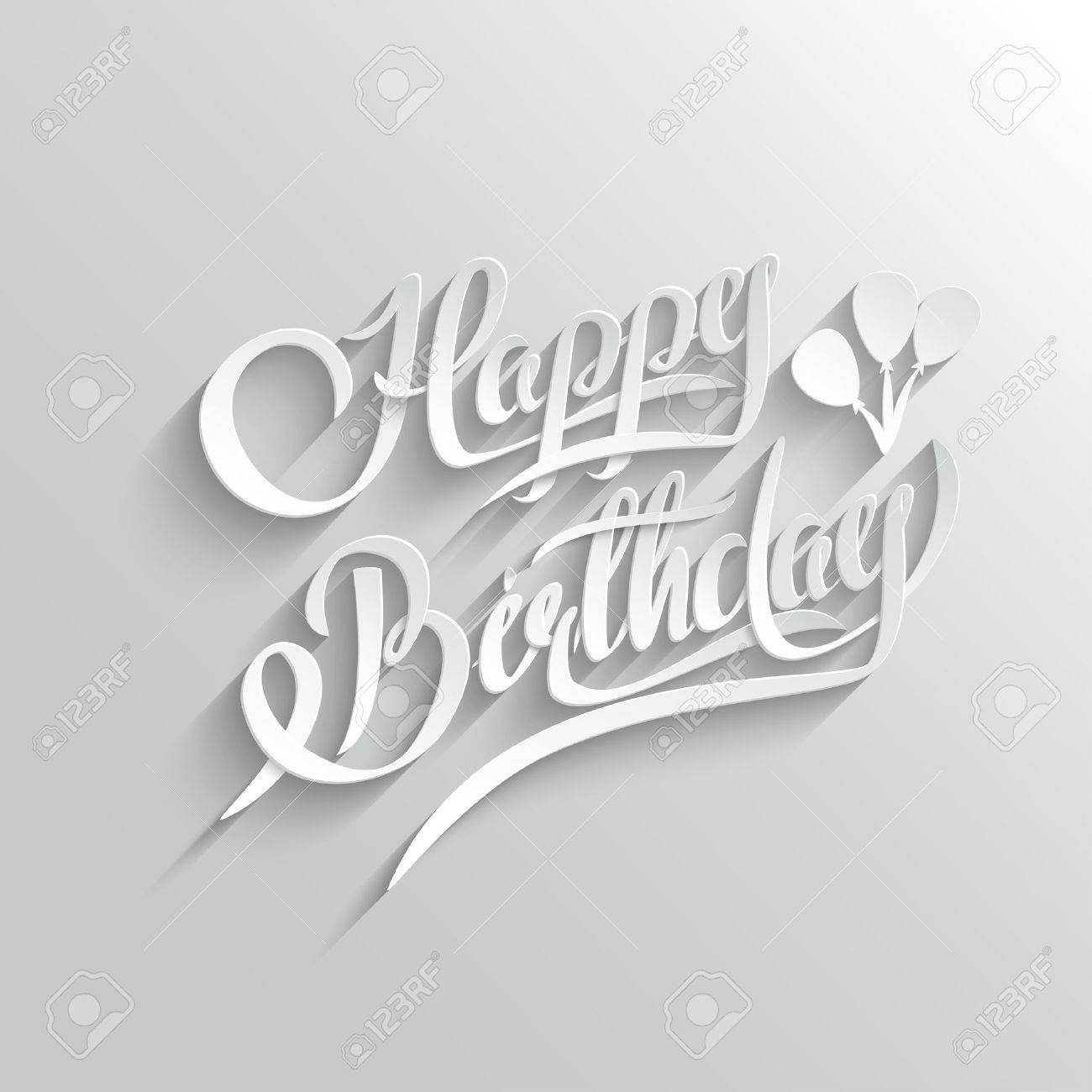 Happy birthday hand lettering greeting card vector background happy birthday hand lettering greeting card vector background invitation card handmade calligraphy stopboris Images
