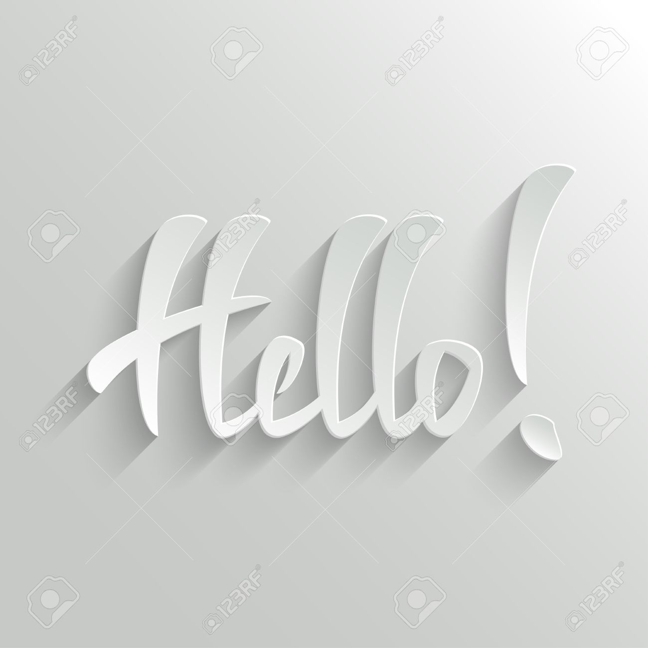 Hello hand lettering greeting card invitation vector background hello hand lettering greeting card invitation vector background handmade calligraphy easy paste to stopboris Choice Image