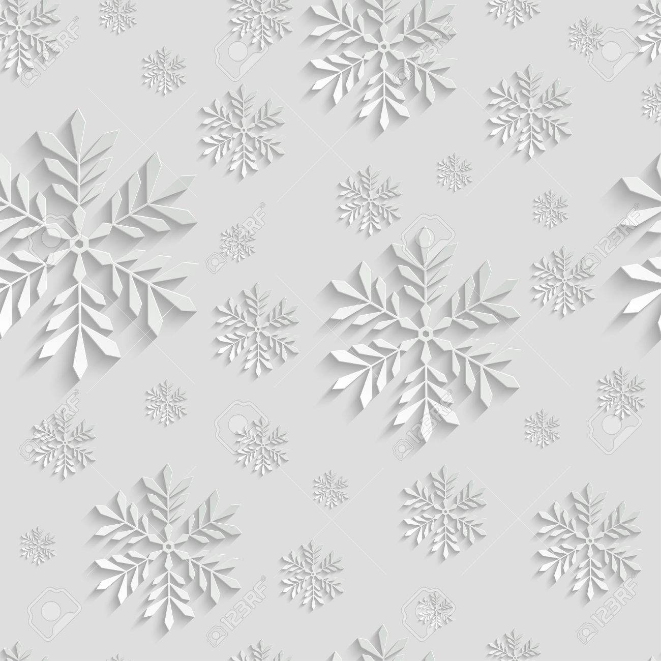 abstract d christmas background with snowflakes vector seamless, invitation samples