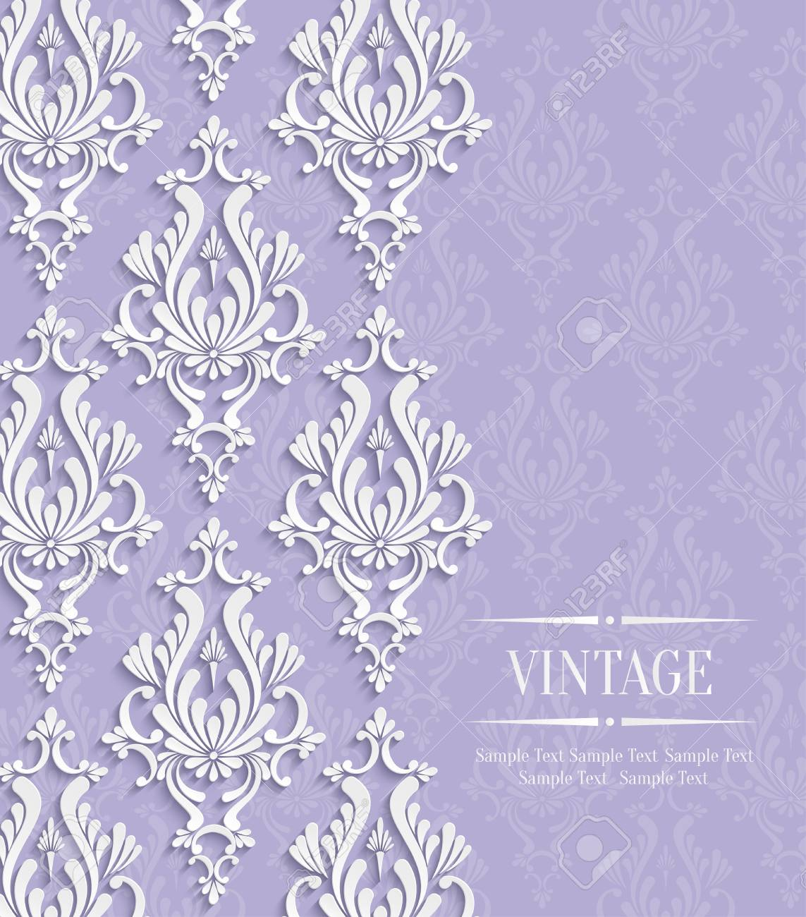 vector violet vintage background with floral damask pattern for royalty free cliparts vectors and stock illustration image 38961453 vector violet vintage background with floral damask pattern for