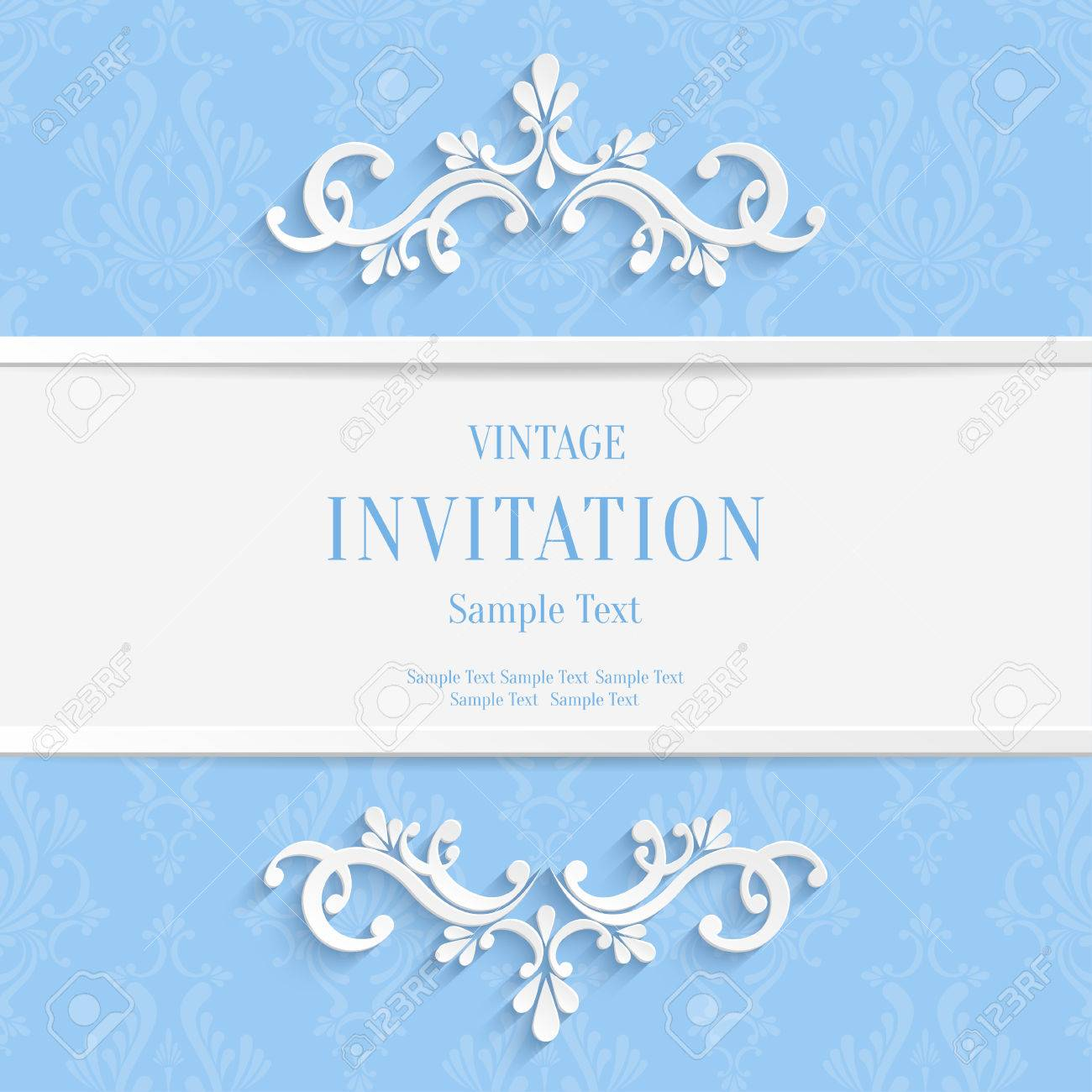 Vector light blue floral 3d christmas and invitation cards vector light blue floral 3d christmas and invitation cards background stock vector 38961471 stopboris Gallery