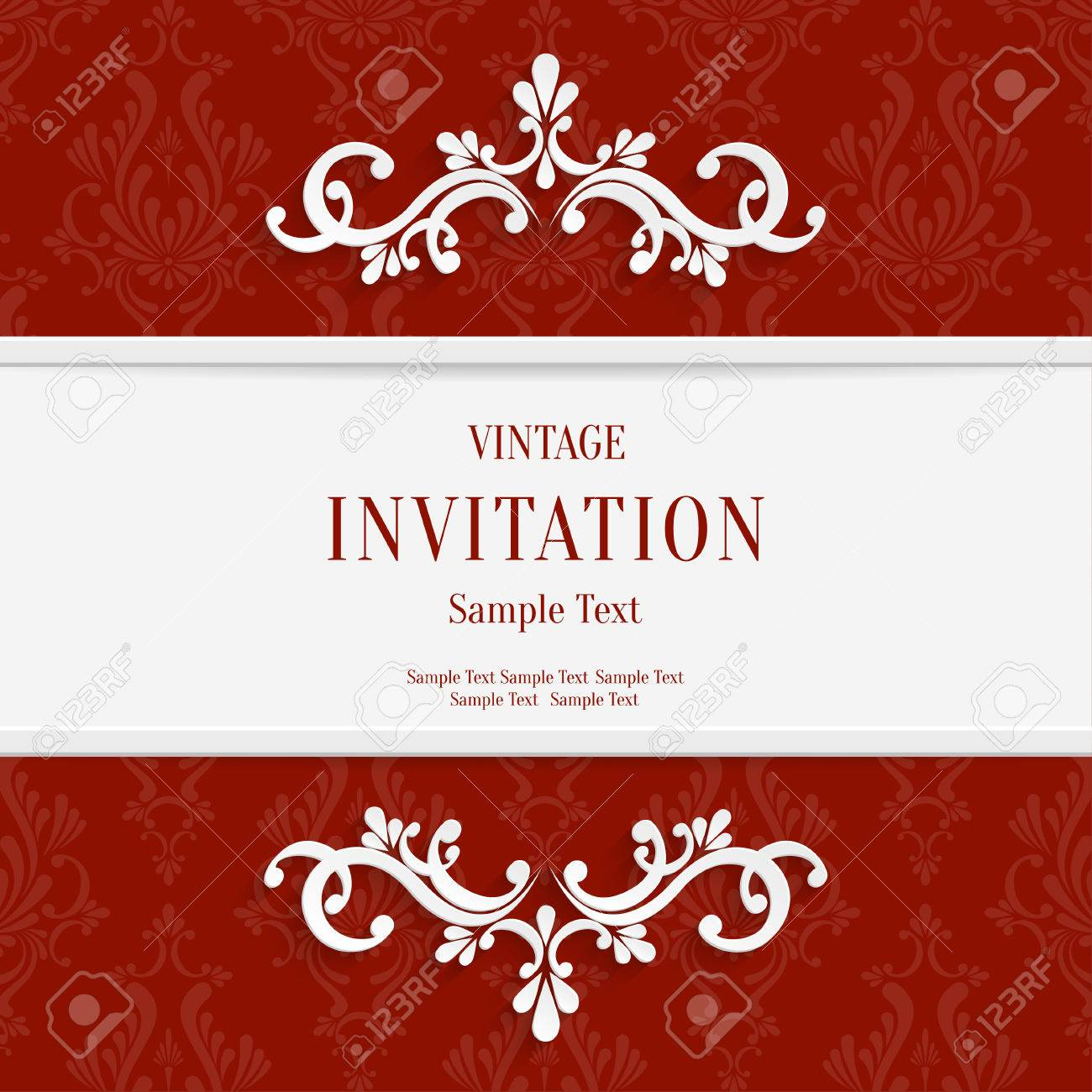 vector floral roja d navidad y tarjetas de la invitacin de fondo foto de archivo