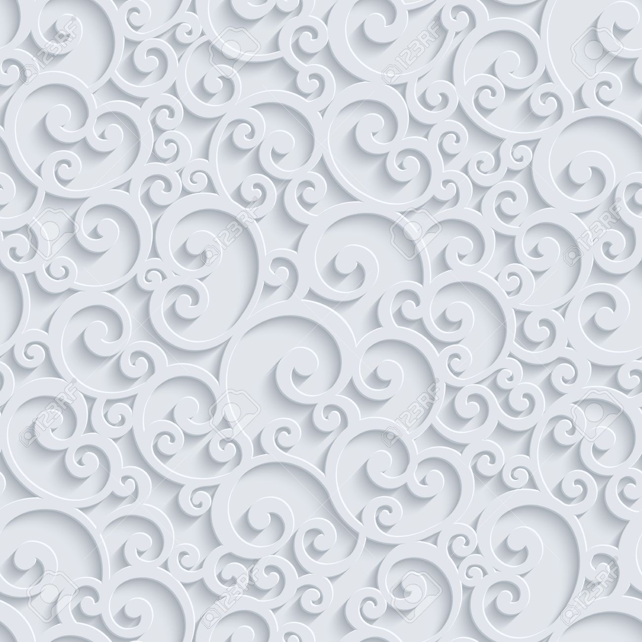 Floral 3d seamless pattern background vector curl decoration floral 3d seamless pattern background vector curl decoration for wallpaper or invitation card swirl stopboris Images