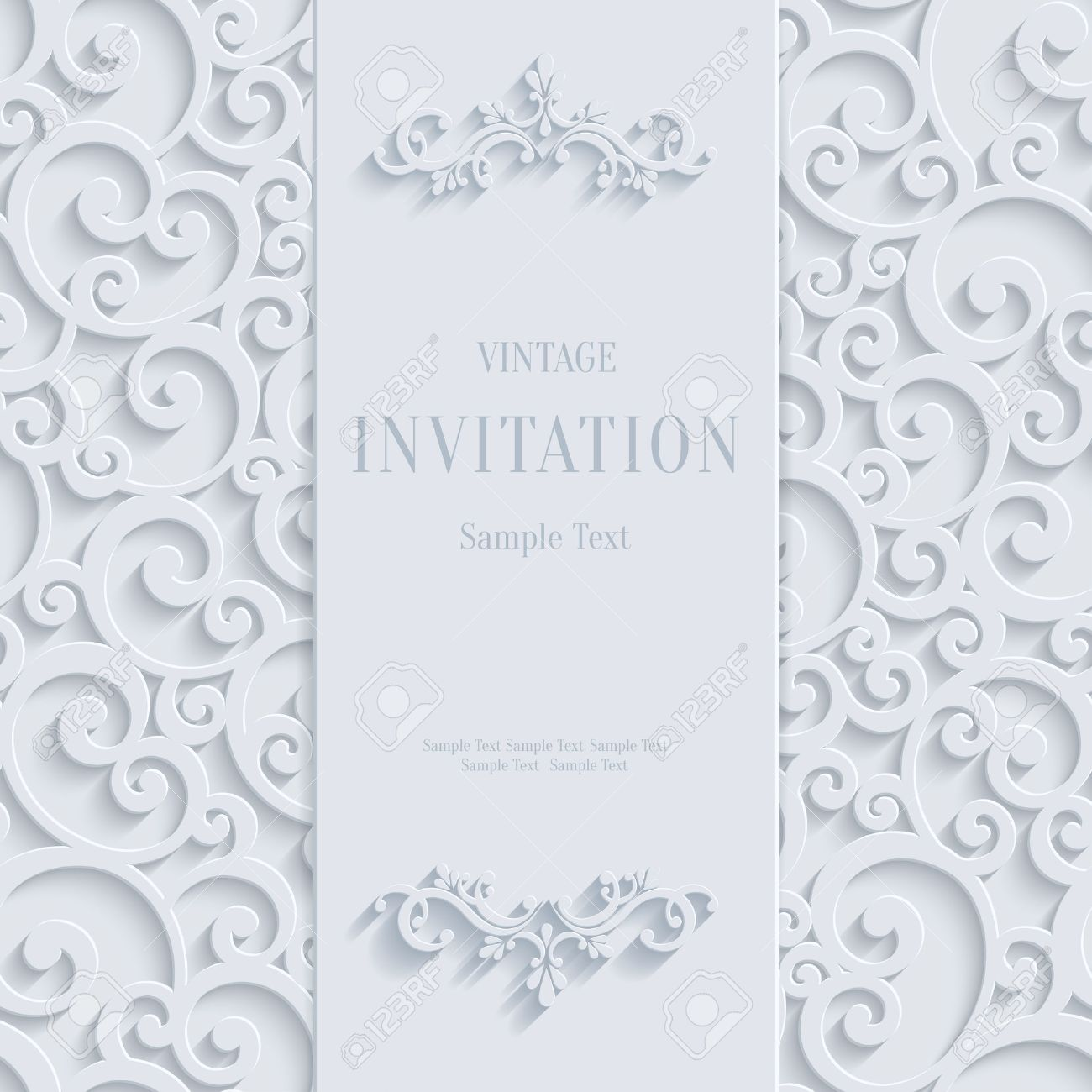 White 3d floral curl background with swirl damask pattern for white 3d floral curl background with swirl damask pattern for christmas or wedding or invitation card stopboris Choice Image