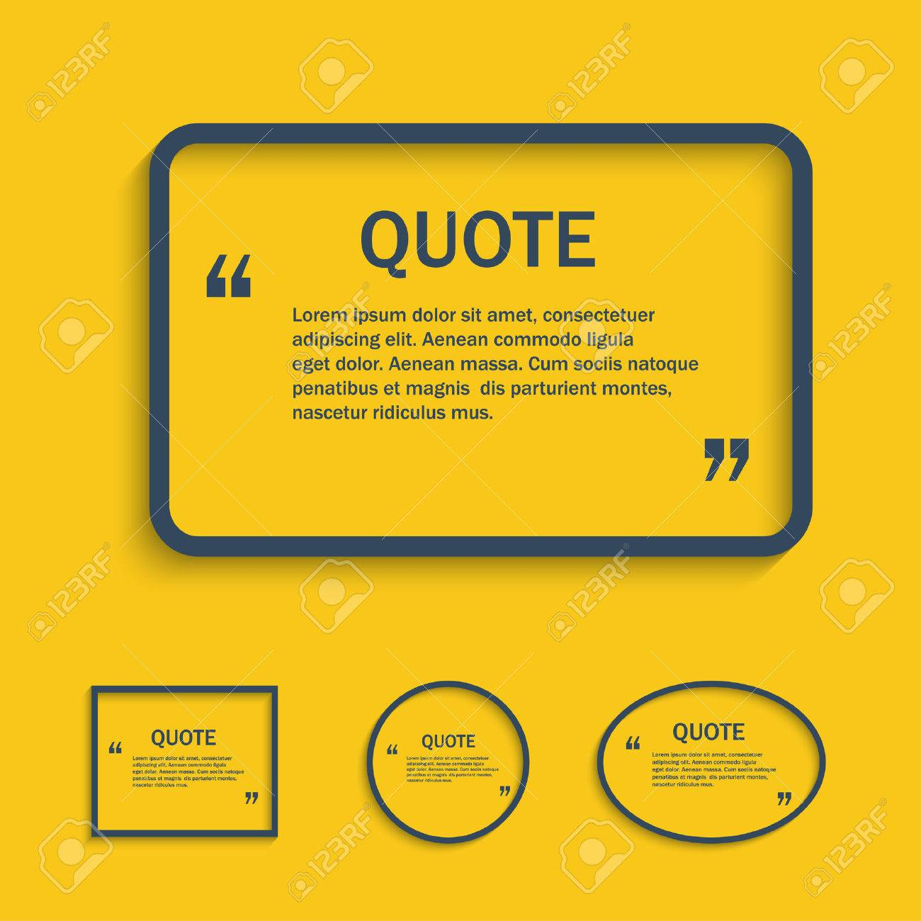 Quote Line Text Box, Vector Design Template Royalty Free Cliparts ...