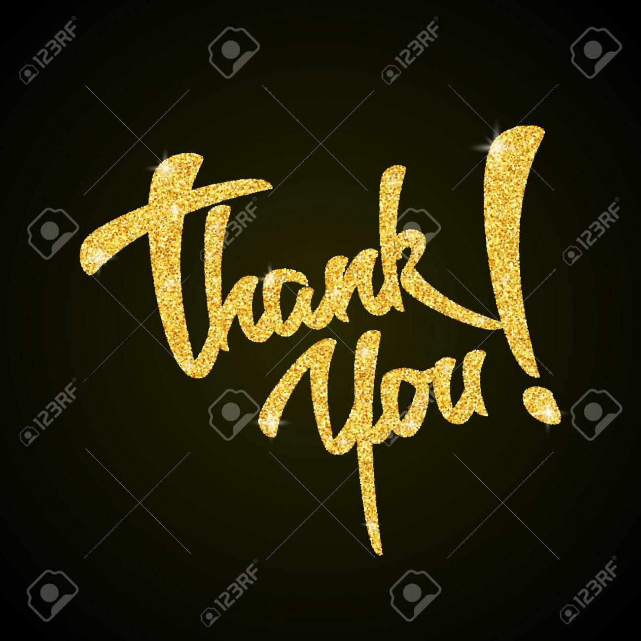 thank you black background