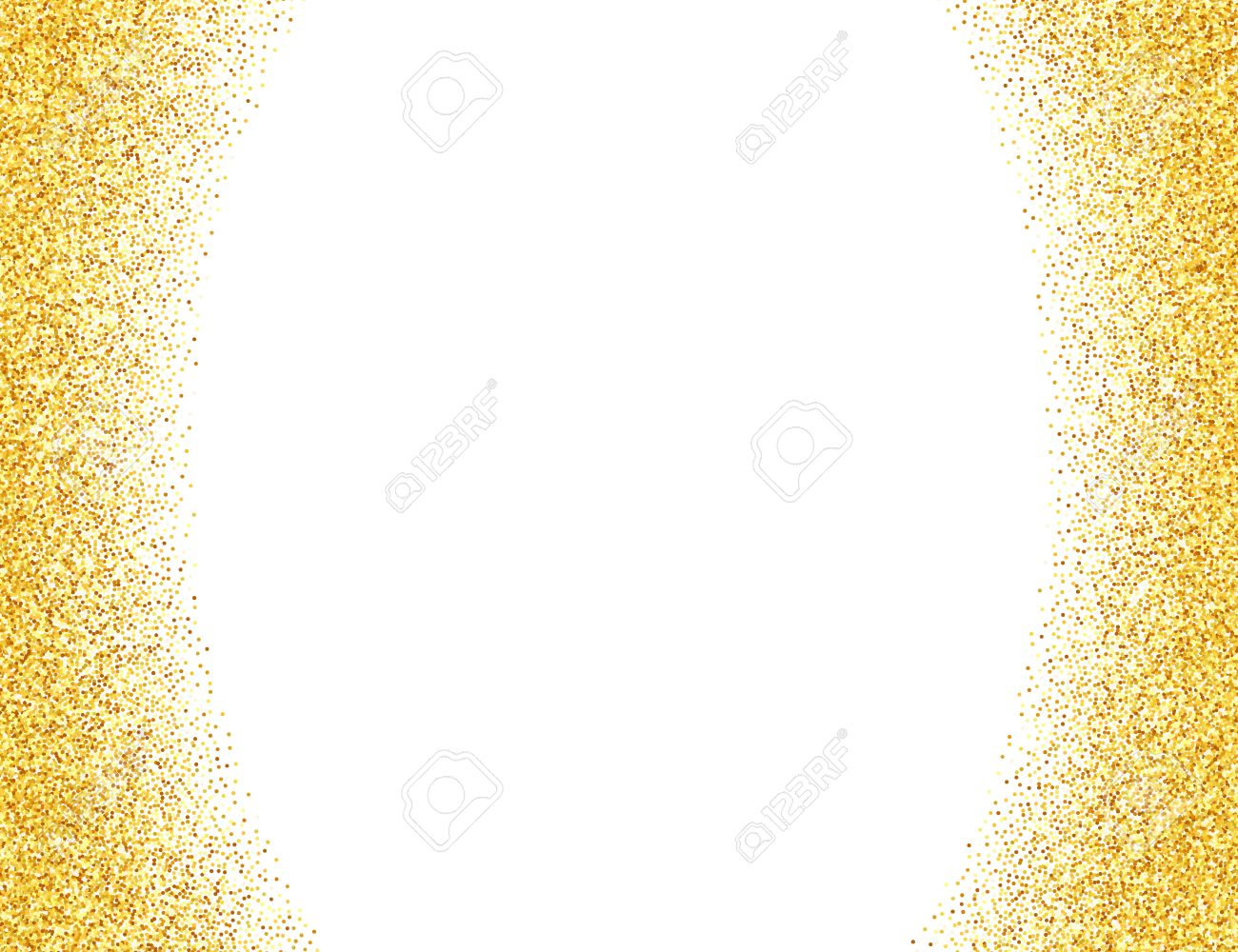 vector gold glitter abstract background golden sparkles on white