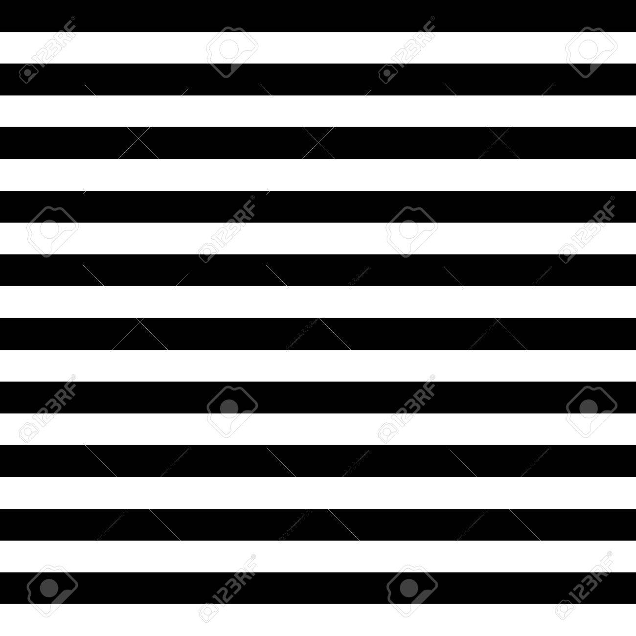 Vector Striped Seamless Pattern. Black and white background - 54021913