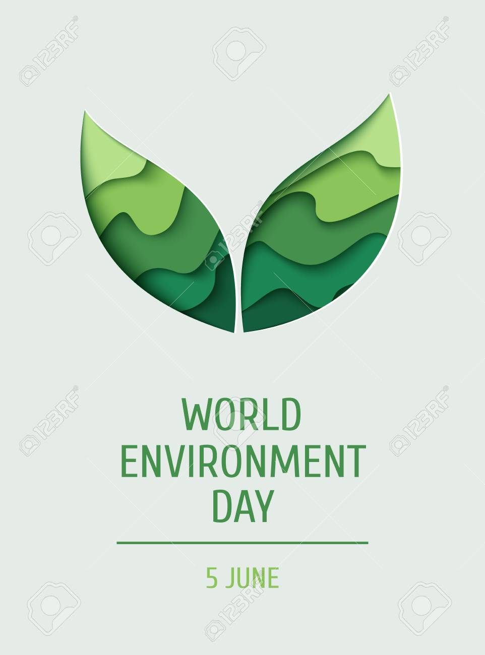 world environment day concept banner 3d paper cut eco friendly