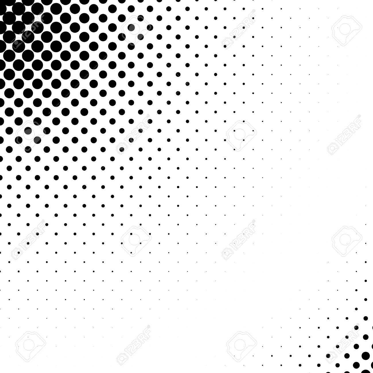 Vector abstract dotted halftone template background. Pop art dotted gradient design element. - 93384047