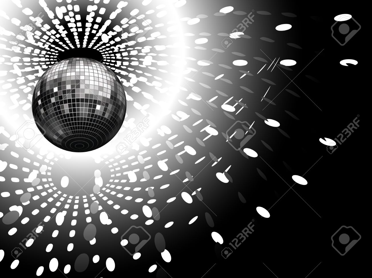 vector illustration of disco globe and light reflections Stock Vector - 5279238