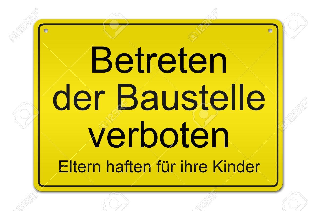 Baustelle schild clipart  Illustration Eines Typischen Deutsch Baustelle Schild