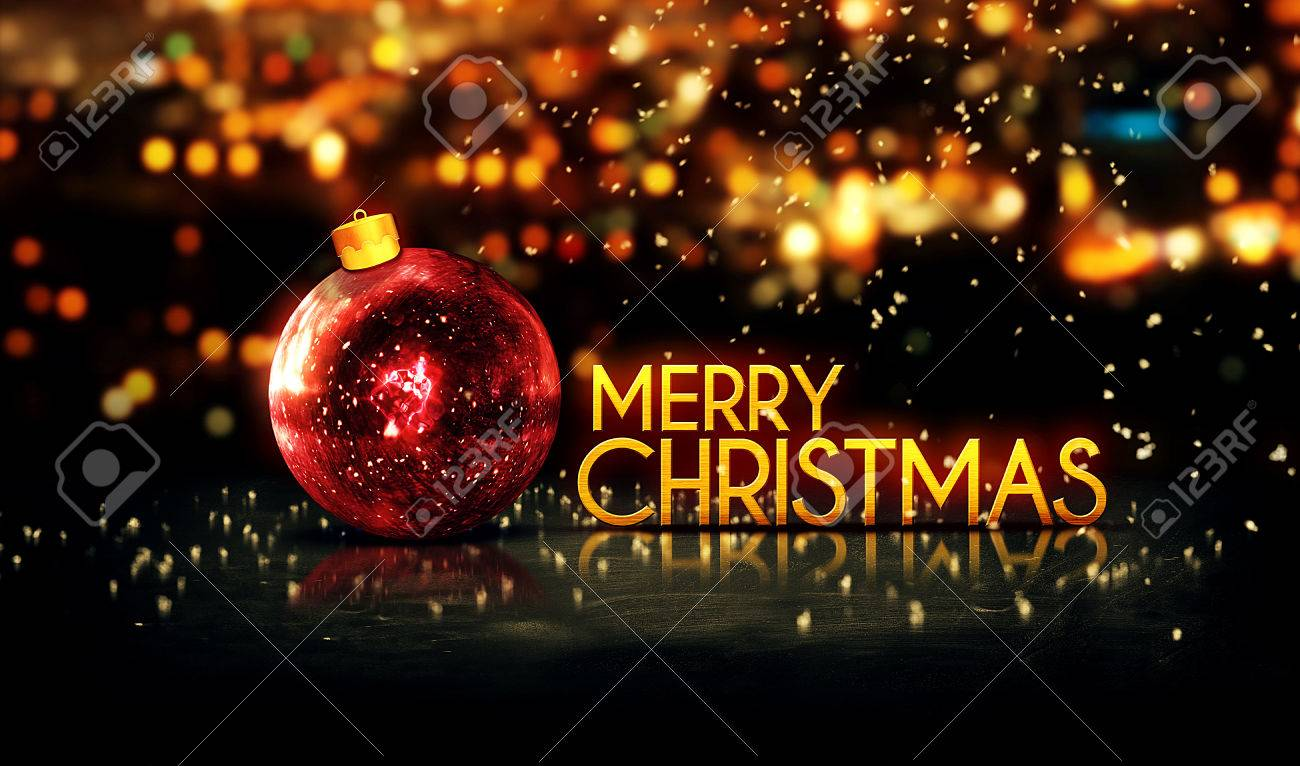 Frohe Weihnachten 3d.Stock Photo
