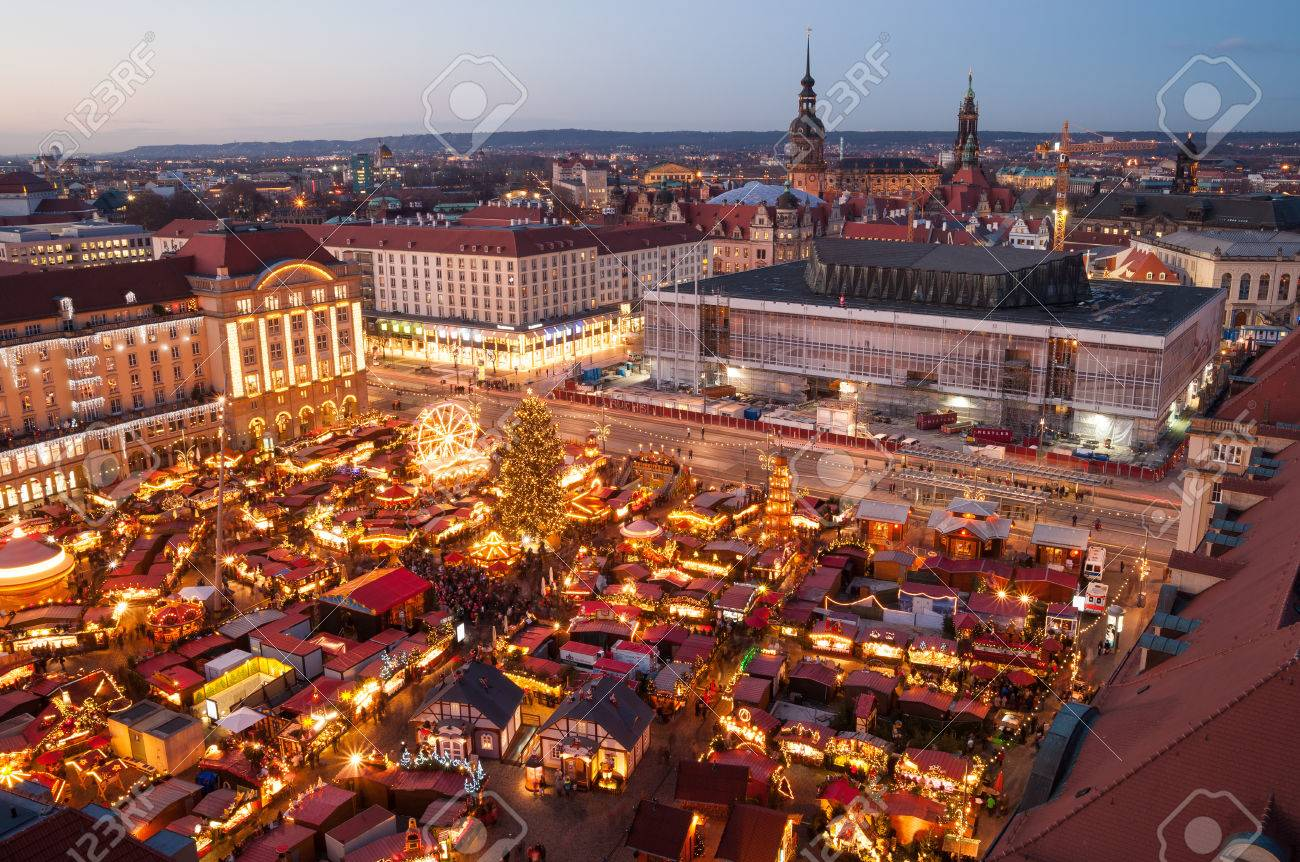 Weihnachtsmarkt In Dresden.Stock Photo