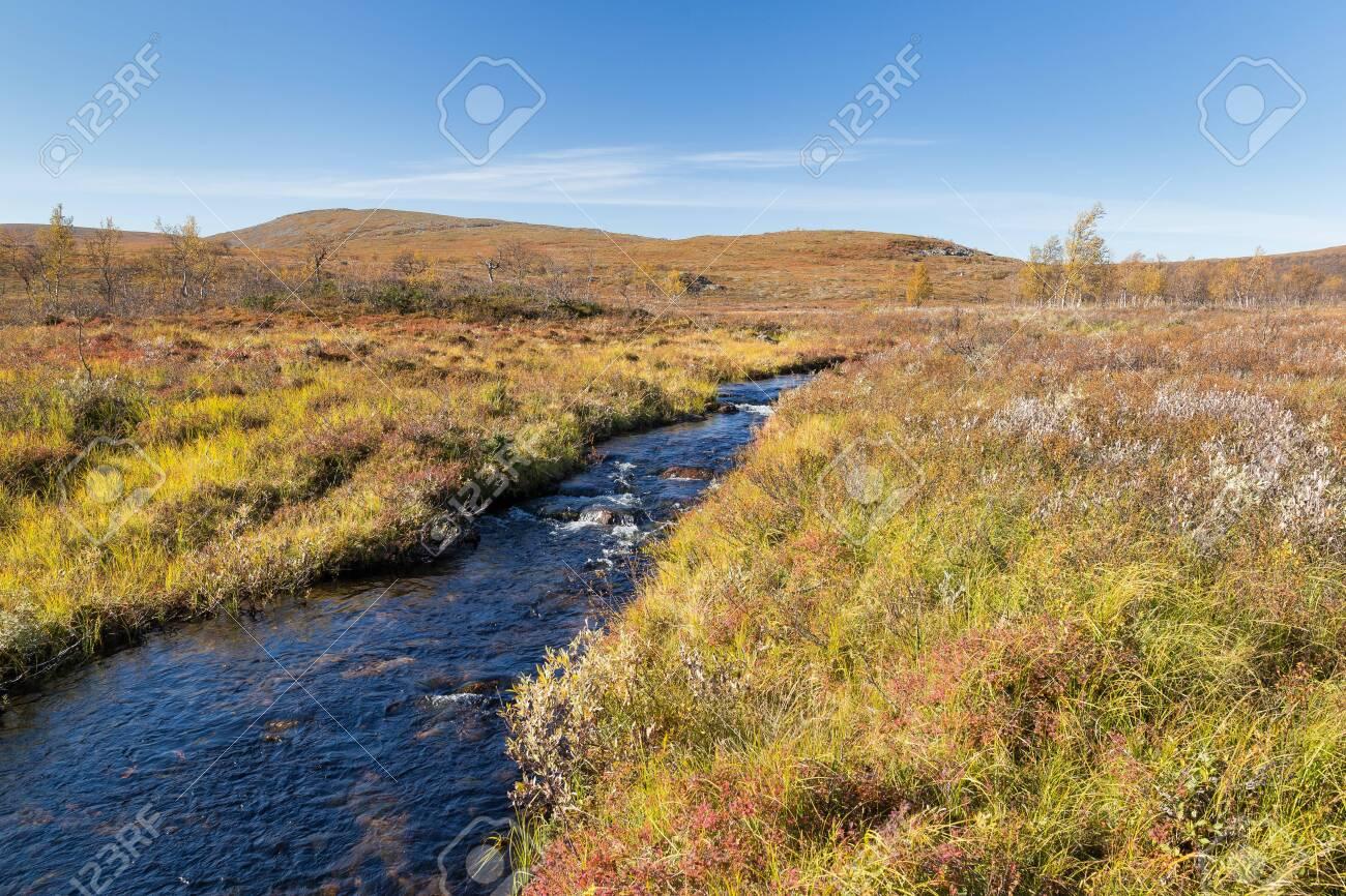River landscape in Finland in autumn - 131598085