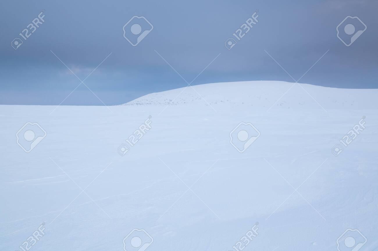 Winter landscape in Krkonose (Poland, Czech Republic) - 133036484