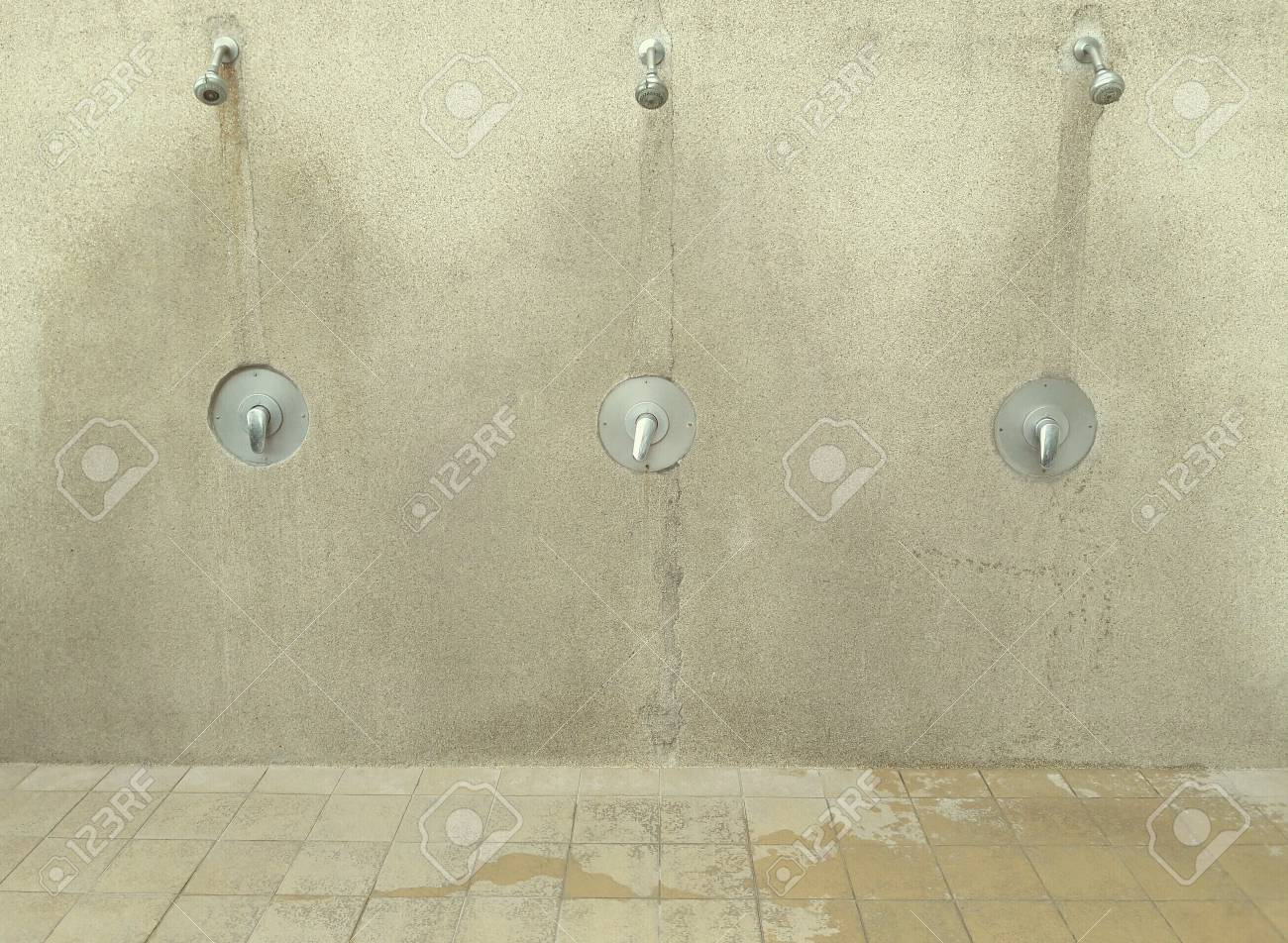 Swimming pool shower area