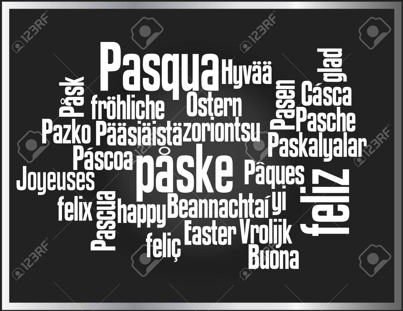 Words cloud with about easter greetings in various languages royalty vector words cloud with about easter greetings in various languages m4hsunfo