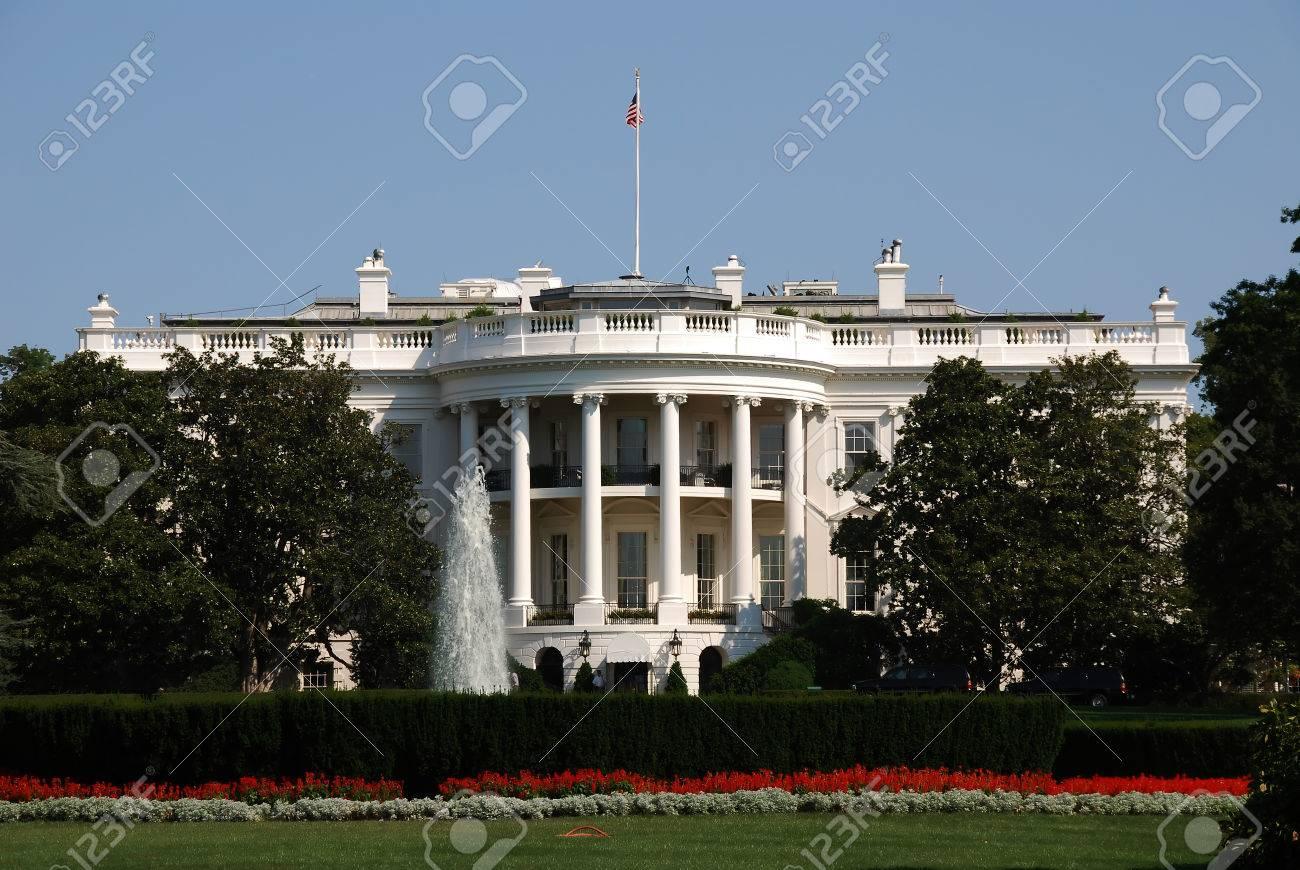 Banque dimages maison blanche où le président des états unis damérique réside sur pennsylvania ave