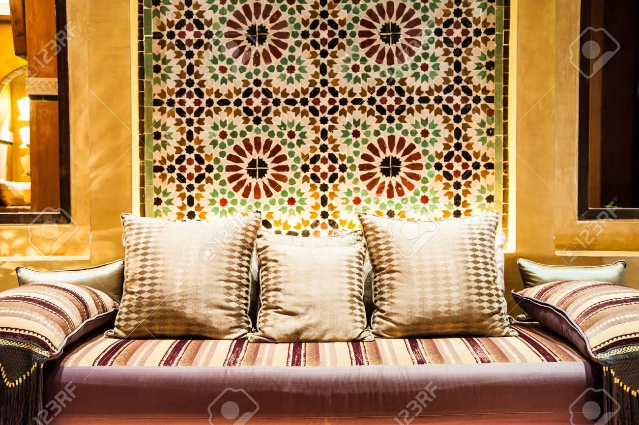 sofa,decorative pillow natural fabric Stock Photo - 22062865