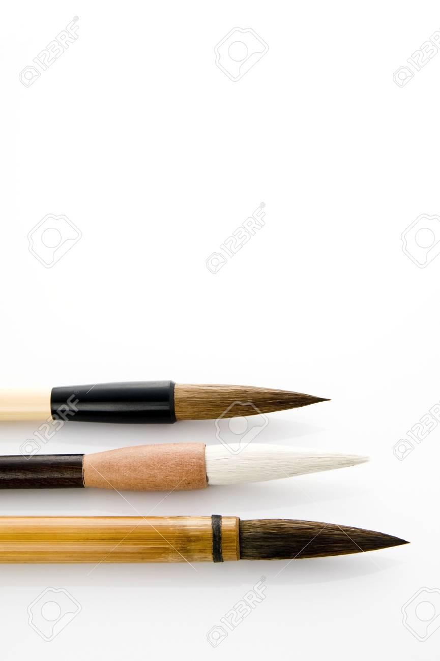 Writing brush isolated on white background Stock Photo - 16153290
