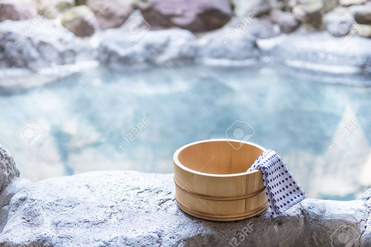 Japanese Hot Spring, Open-air Bath Stock Photo, Picture And Royalty ...
