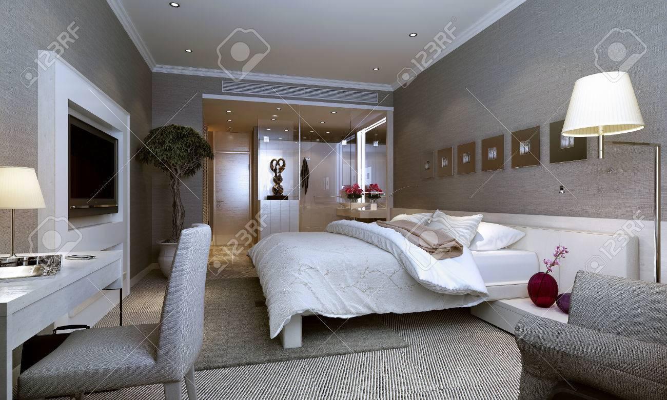 Modern bedroom interior Stock Photo - 23889749
