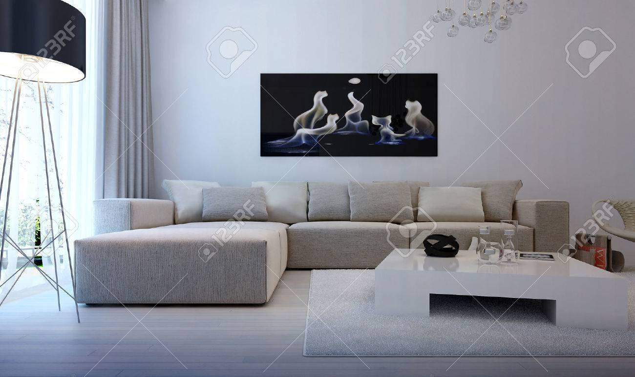 Salon Intérieur Moderne Banque D\'Images Et Photos Libres De Droits ...