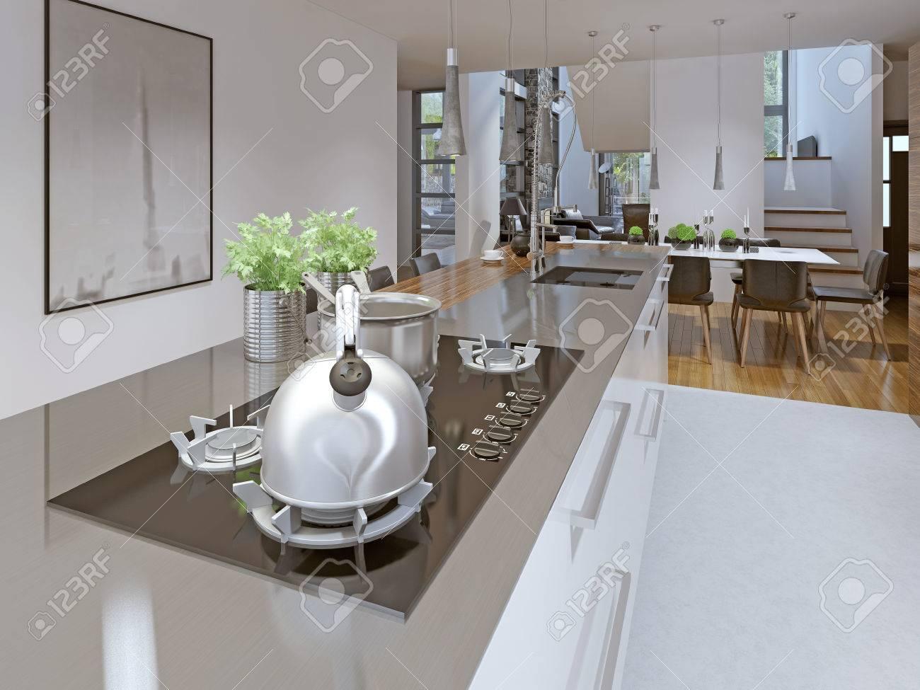 Vorstellung Von Loft Küche-Esszimmer Lizenzfreie Fotos, Bilder Und ...
