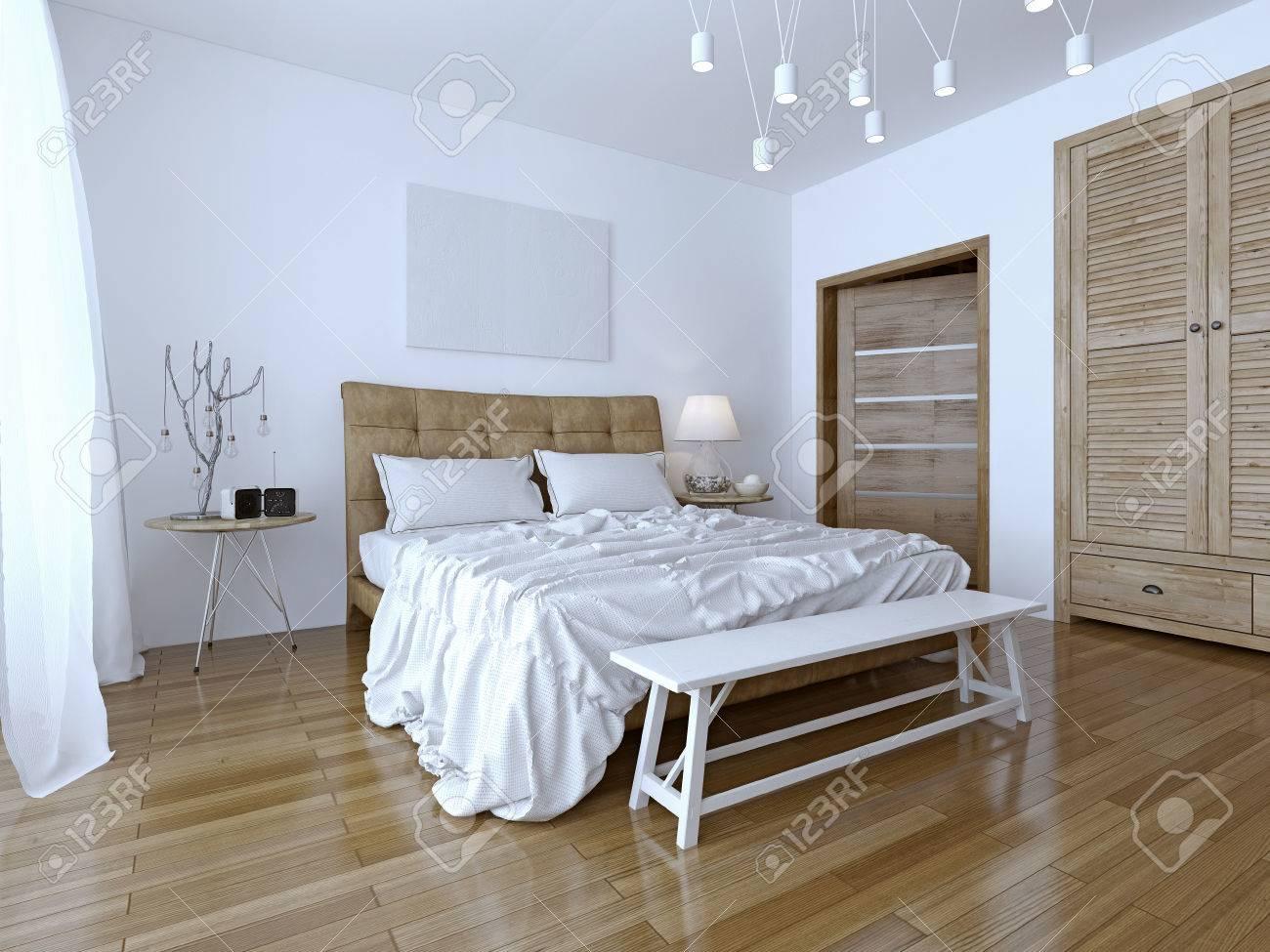 Schöne Und Moderne Haus Und Hotel Zimmer Der Kontrast Der Beiden