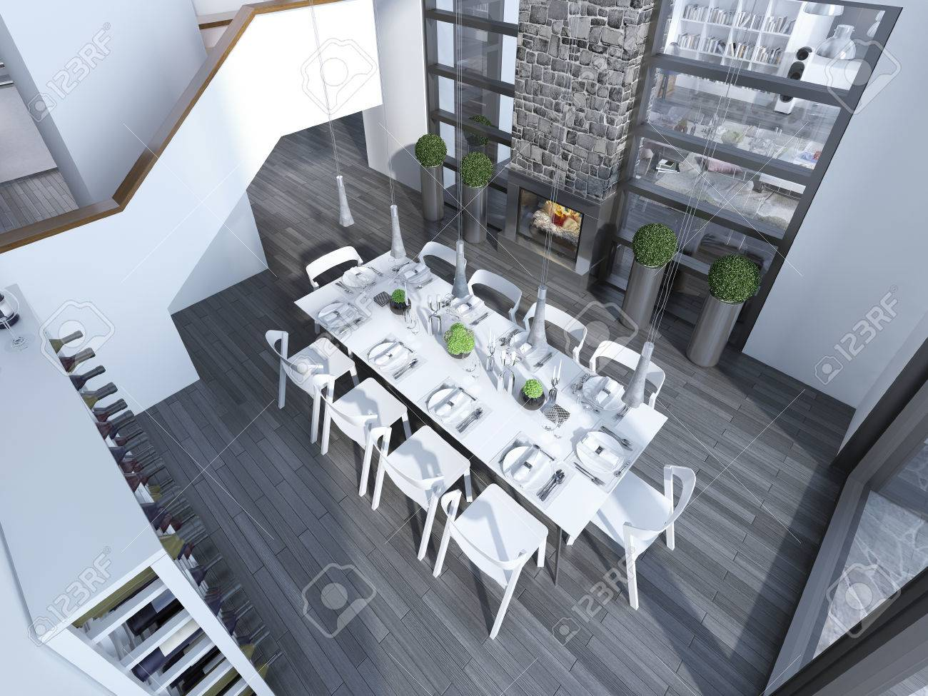 Groovy Contemporary Dining With White Furniture Trend Top View To Creativecarmelina Interior Chair Design Creativecarmelinacom