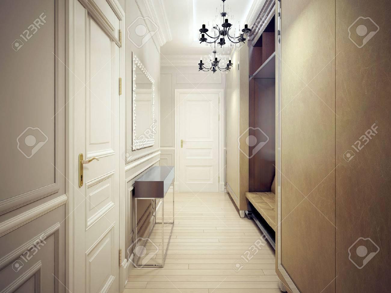 Style Moderne Couloir. Un Couloir étroit Et Fonctionnel Avec Des ...