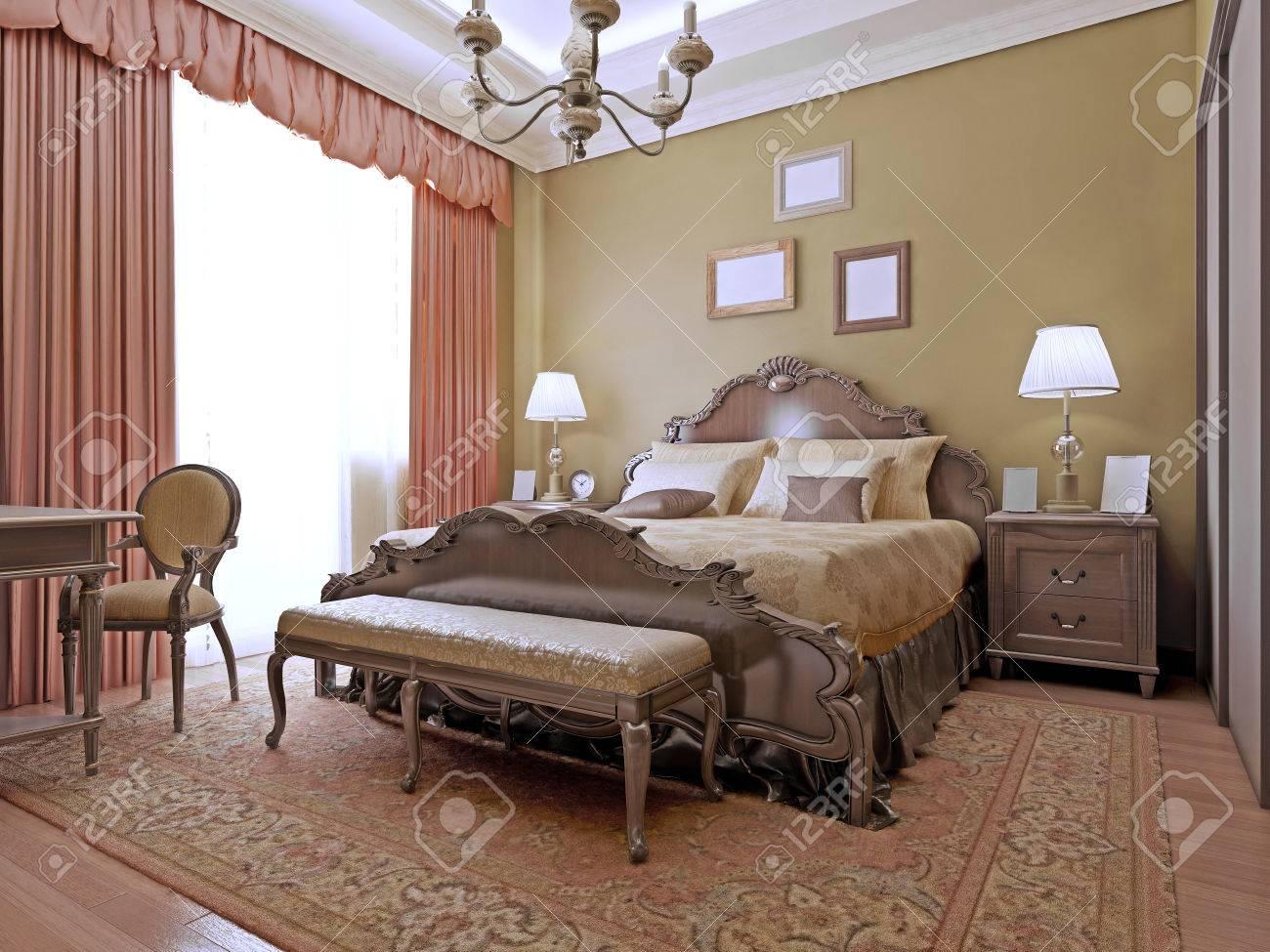 Cher Style Art Déco De Chambre. Intérieur Chambres Lumineuses Faites ...