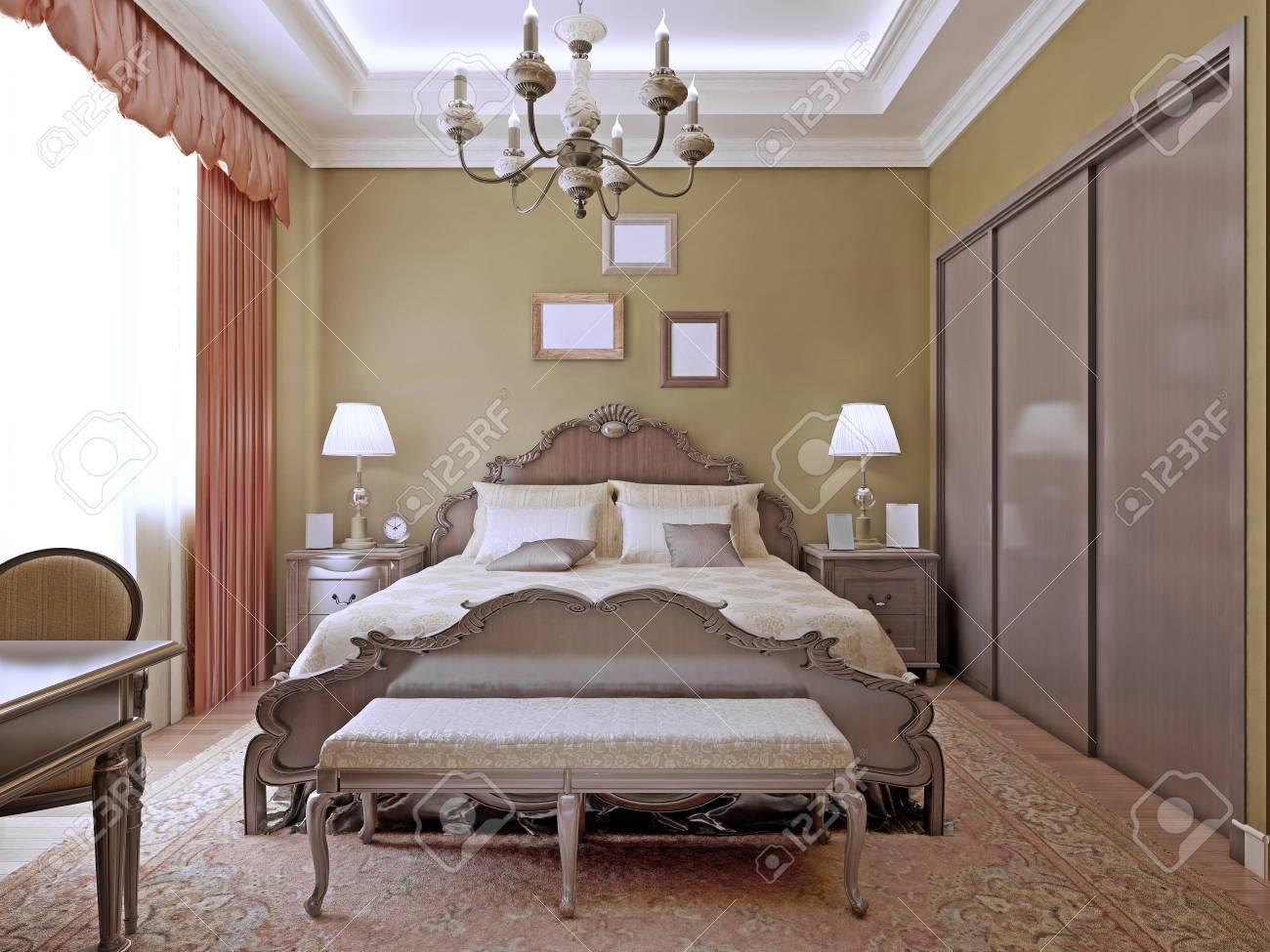 art déco chambre avec des néons au plafond chambre lights
