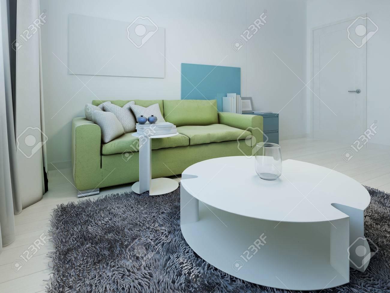 Soggiorno moderno blu : soggiorno angolo cottura piccolo ...