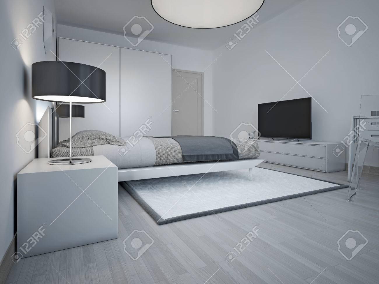 idea di spaziosa camera da letto moderno con pareti grigie. grande ... - Pareti Grigie Camera Da Letto