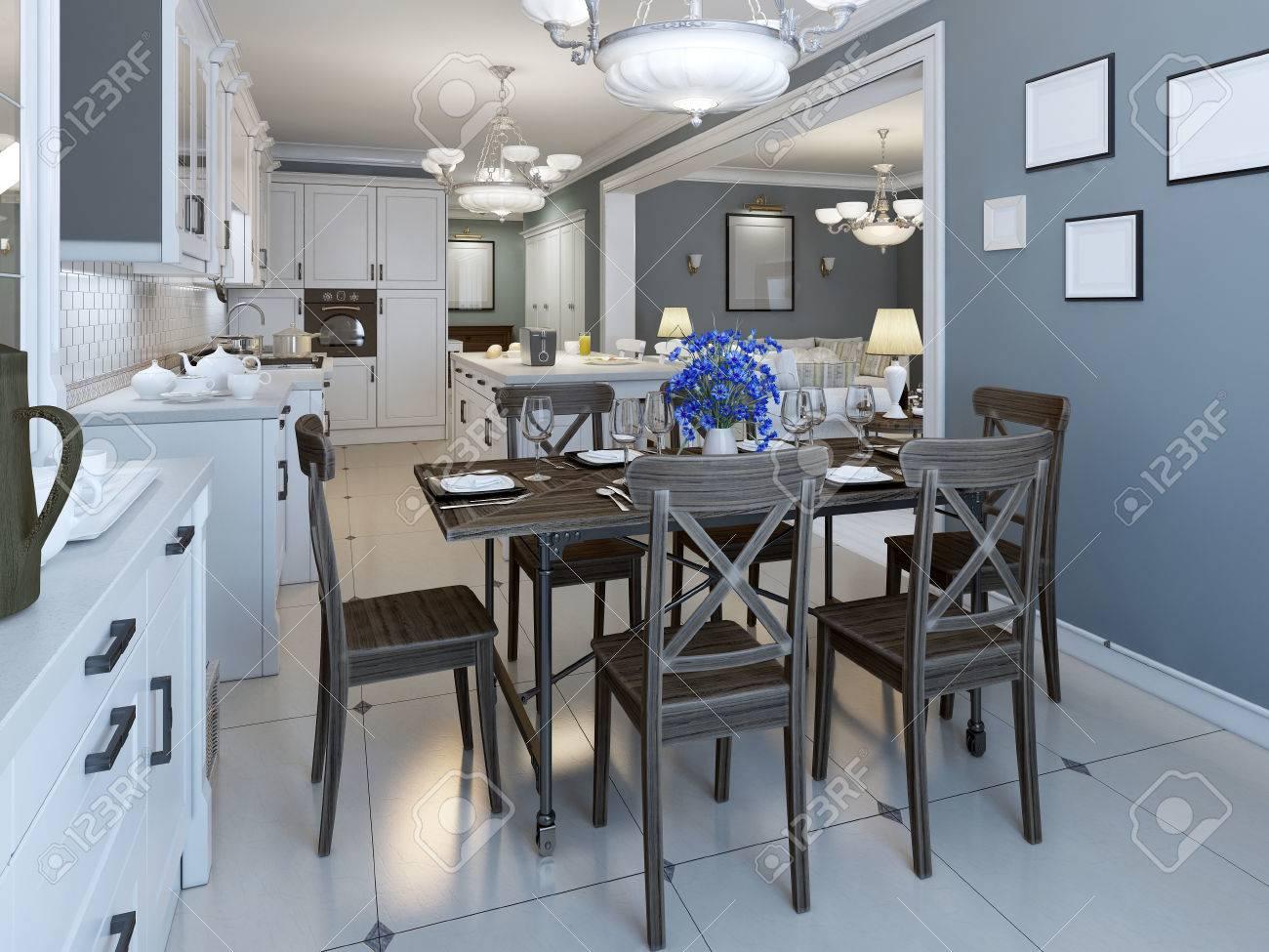 Bonito Paredes Azules Cocina Marina Cresta - Ideas de Decoración de ...