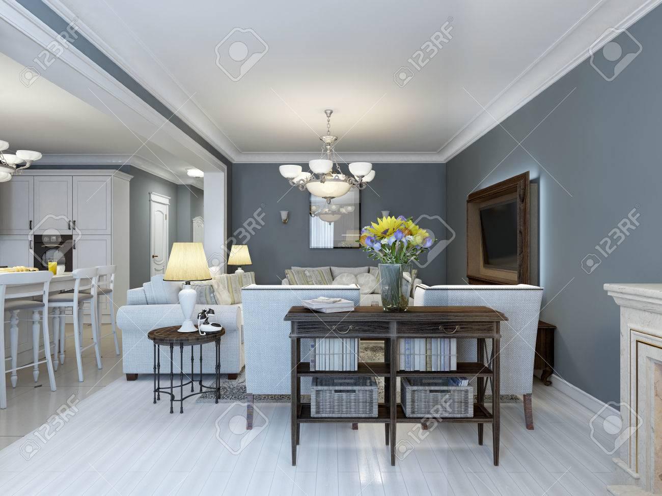 Idee Der Provence Schlafzimmer Mit Weißen Möbeln. Weiß Parkettboden ...