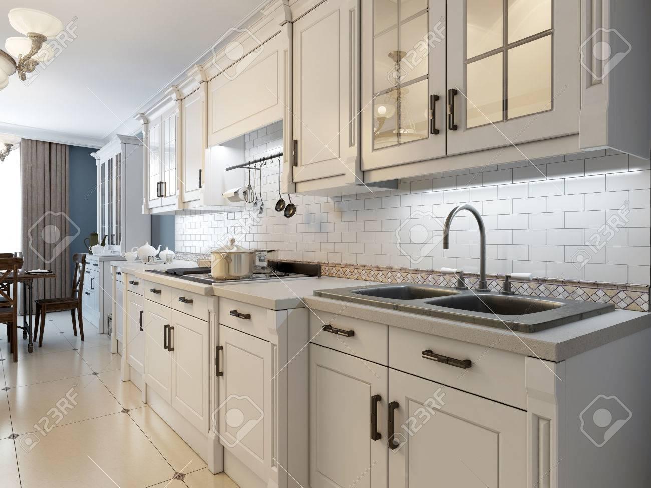 Muebles Blancos Free Cocina Con Muebles Blancos Y Office Central  ~ Limpiar Mueble Lacado Blanco Amarillento
