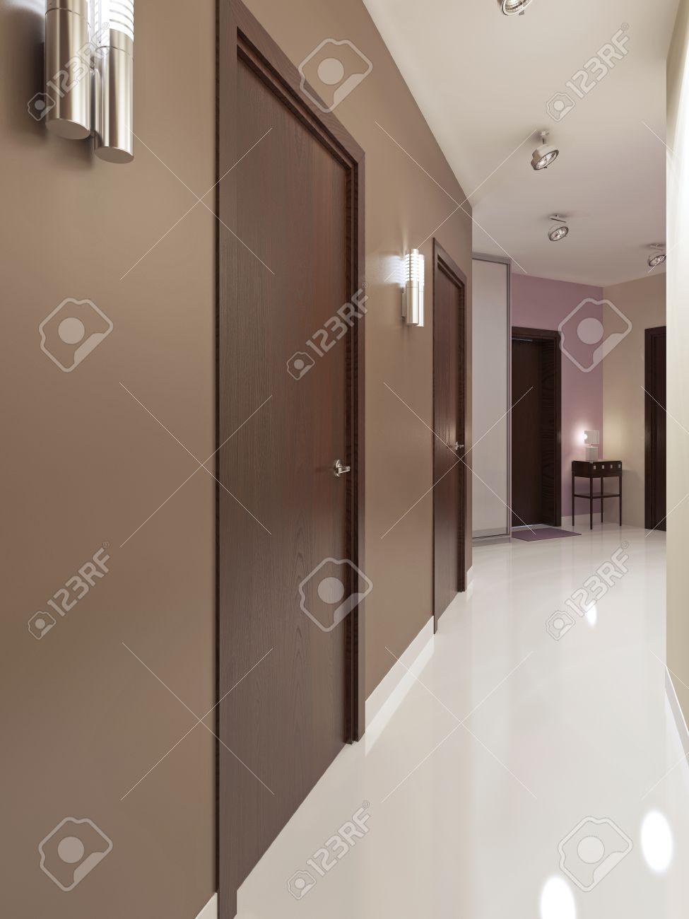 hall d'entrée de style contemporain. couloir étroit avec le blanc