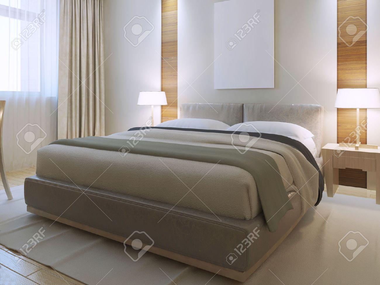 camera da letto in stile contemporaneo. ampia camera con nicchia