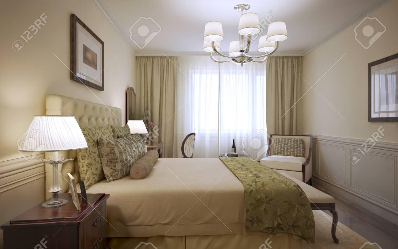 Conception De La Chambre D\'hôtel De Luxe. Rendu 3D Banque D\'Images ...