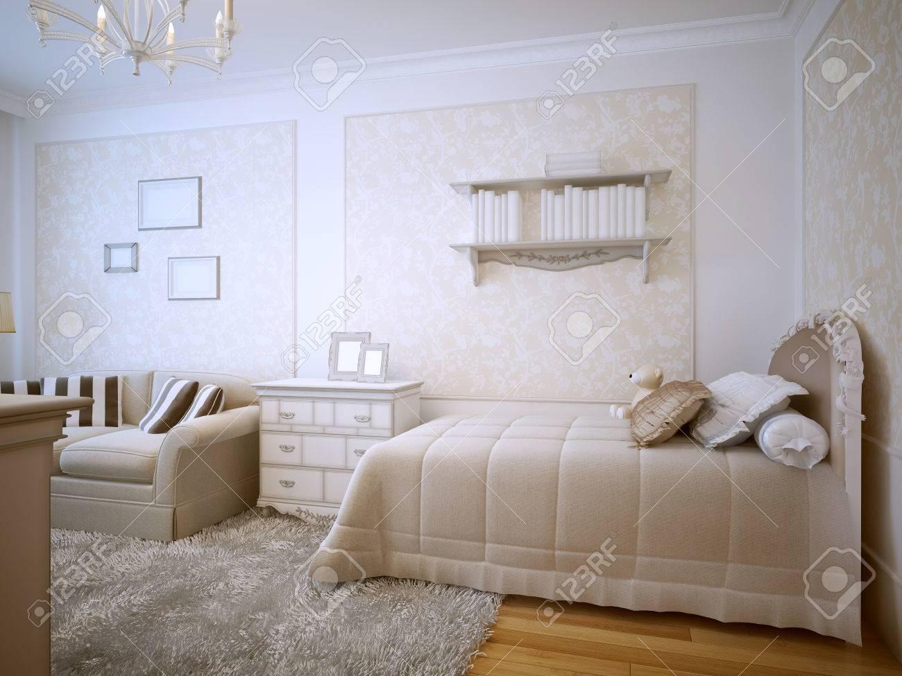 camera da letto di lusso dal design classico. condito con un letto ... - Cuscini Camera Da Letto