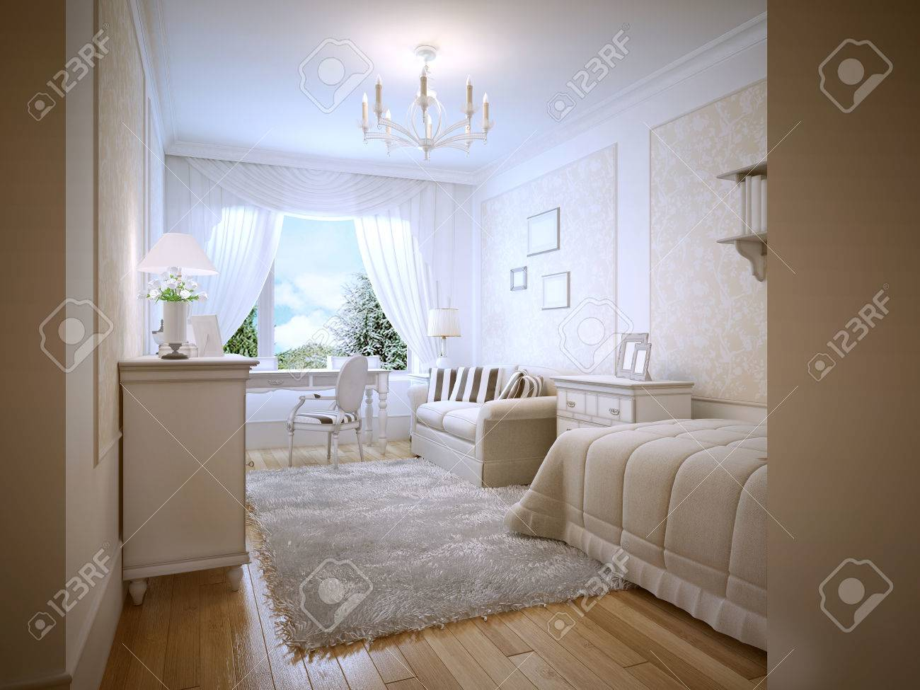 bright teenage bedroom provence style a cozy bedroom for a teenager in cream colors