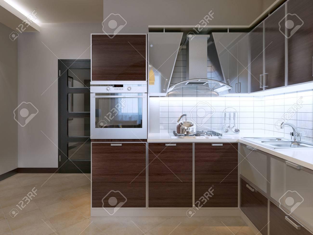Idee Der Modernen Küche. Neue Küche Mit Zebrano Fassade Schränke ...