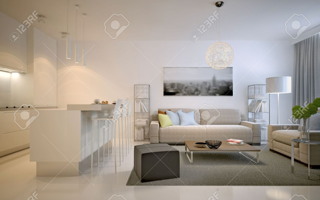 contemporary studio apartments spacious solution for interior