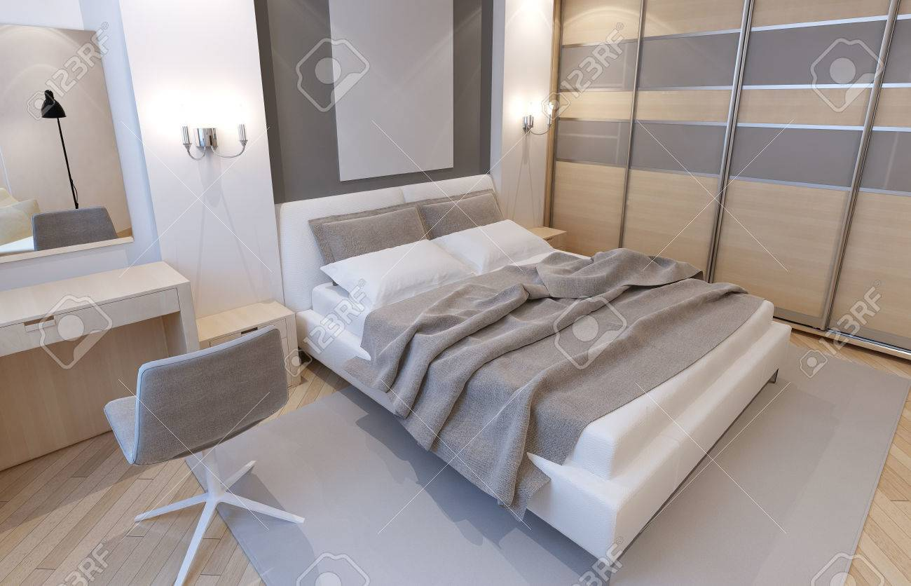 Master Bedroom In Light Colors Art Deco Style The Interior Of For