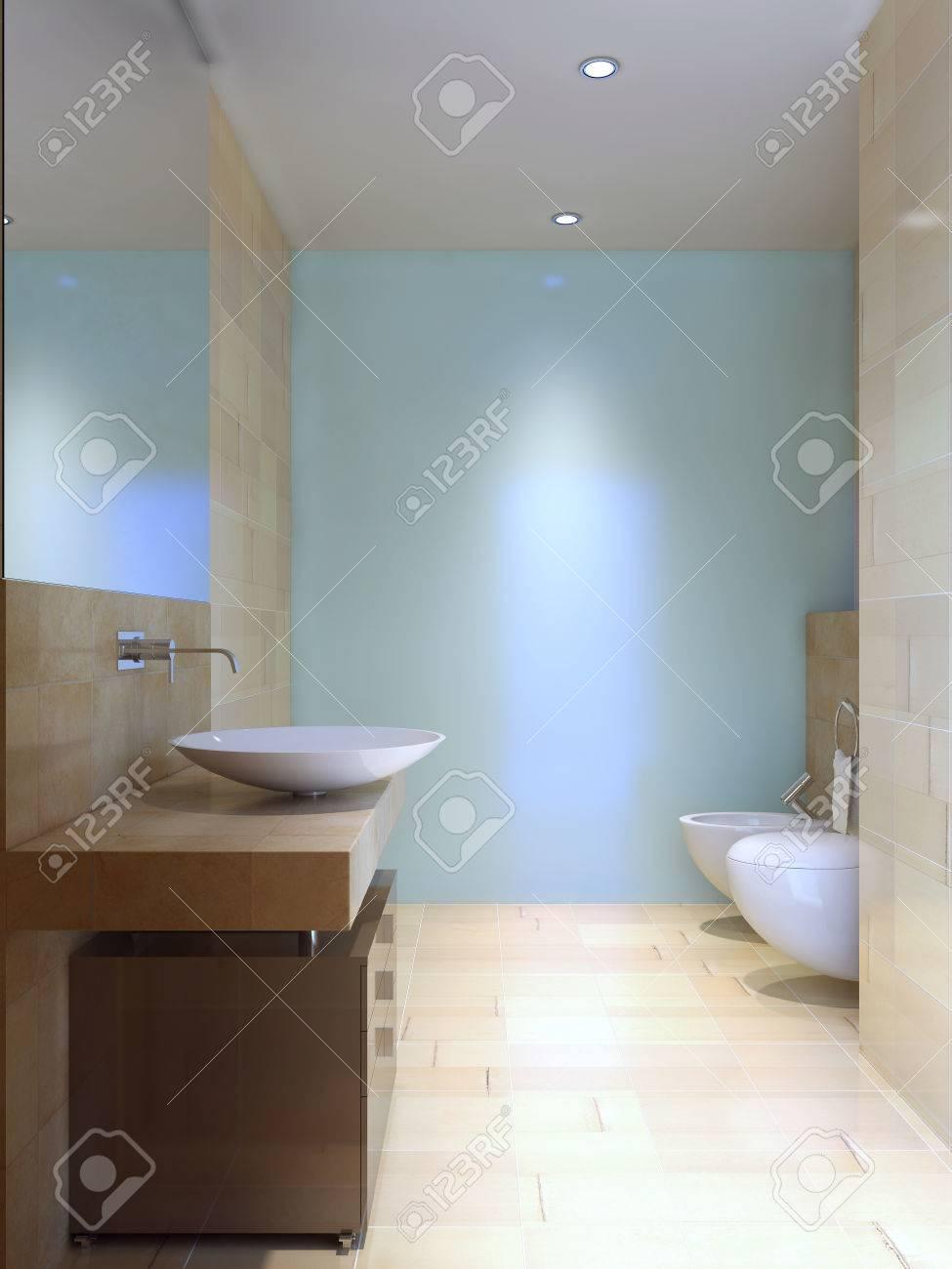 Moderne WC Idee. 3D übertragen Lizenzfreie Fotos, Bilder Und Stock ...