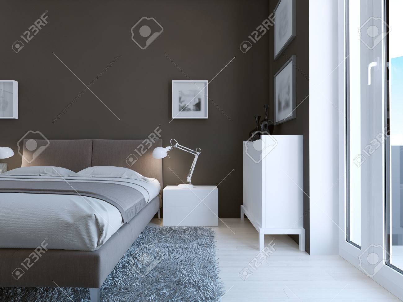 High Tech Zimmer Design Prazise Und Sehr Elegant Bett Und Der