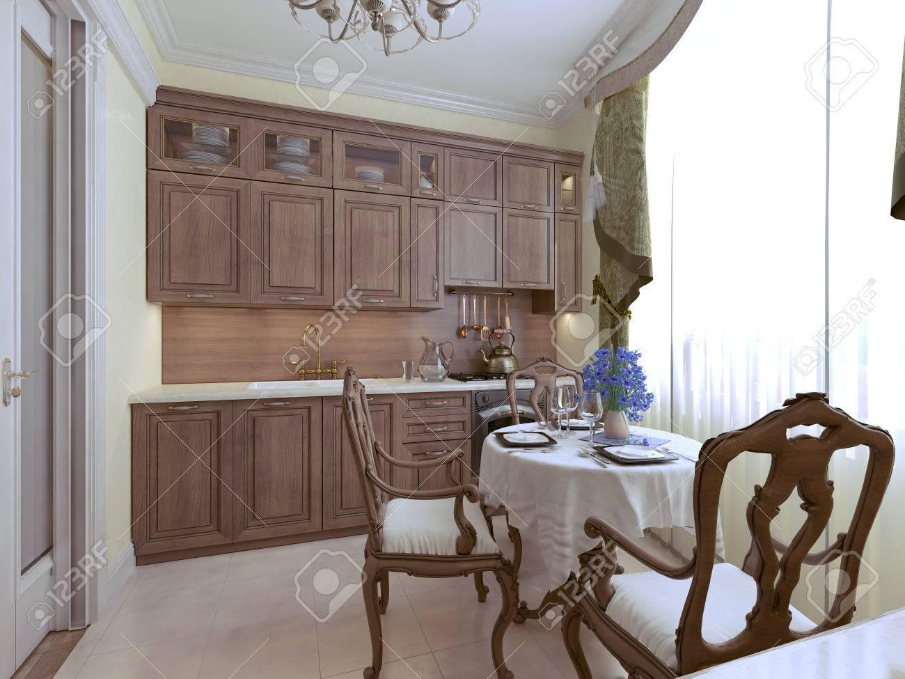 Luxus-Küche Englisch Stil. 3d Render Lizenzfreie Fotos, Bilder Und ...